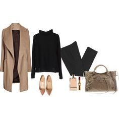Winter by trenchcoatandcoffee on Polyvore featuring jucca, Isabel Marant, Christian Louboutin, Balenciaga, Yves Saint Laurent and Chloé