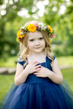 Sweet flower girl halo.  Photo by Emily Wren Photography.