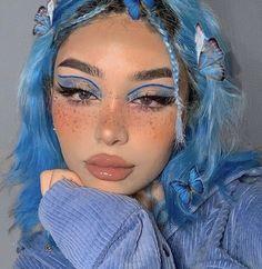 Cute Makeup Looks, Makeup Eye Looks, Eye Makeup Art, Pretty Makeup, Hair Makeup, Face Paint Makeup, Indie Makeup, Edgy Makeup, Eye Makeup Designs