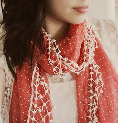 red polka dot scarf. should have bought you!
