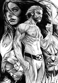 X-Men pinup by Stjepan Šejić Comic Art