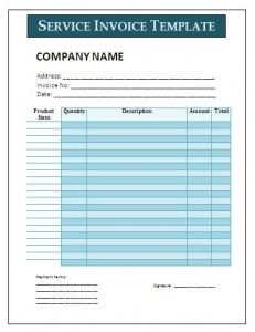 Invoice Template For Services Provided Free Sales Invoice Template  Certificate Templates  Pinterest .