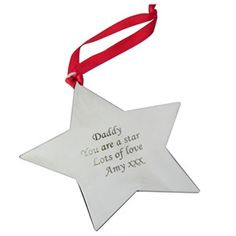 Star Personalised Christmas Decoration | Find Me A Gift