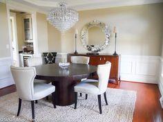 Crisp, chic dining room #susanmuschweck #interiordesign