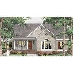 Cottage Style Homes, Cottage House Plans, Dream House Plans, Small House Plans, Dream Houses, Farm House, Cottage House Styles, House Roof, French Cottage