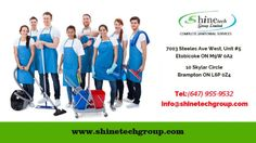 Contact Shinetech Group for #commercial #cleaning_services WE WILL USUALLY PROVIDE THE FOLLOWING SERVICES: Garbage removal Recycling removal Steam cleaning Basic repairs or equipment replacement Floor stripping and waxing Power washing Post-construction cleanup services Storage cleaning We can be performed daily, weekly, bi-weekly, monthly, or as many times as you would like.Contact: (647) 955-9532
