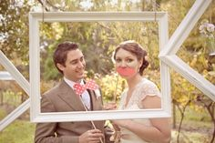 Photo booth idea for wedding outside
