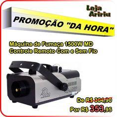 OFERTA! Máquina de Fumaça 1500W Controle Remoto Com e Sem Fio: De 364,90 Por 353,95 em http://www.aririu.com.br/maquina-de-fumaca-1500w-15l-controle-remoto-com-sem-fio_163xJM