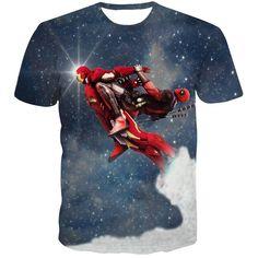 Deadpool Fly Ironman 3D T-Shirt  t shirt Men Women Summer Short Sleeve Tops Galaxy t shirts Casual tee shirts