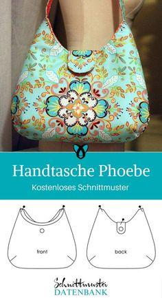 Handtasche Tasche nähen Schnittmuster kostenlos gratis Freebie Freebook Phoebe Geschenk Geschenkidee Frauen Schwester Mutter Oma