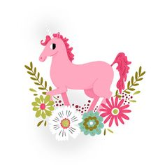 Is there much else to say? It's a horse with a horn. It is pink. It is surrounded by flowers. This Tattly is pretty much a no-brainer for any grownup or child.