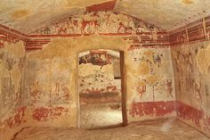 Etruscan painted tombs, Tarquinia, Italy