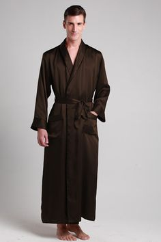 Buy from online shop for 100-percent natural and healthy silk bath robes with custom plus size. $99 #robes #silk #lilysilk