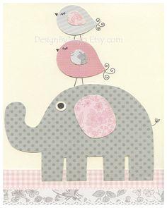 Girl Nursery Decor Girl Nursery Art Baby Girl by DesignByMaya