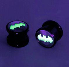 Glow in the dark batman plugs @HotTopic