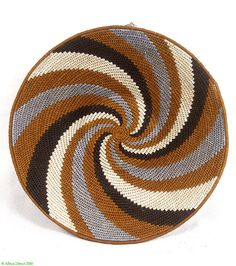 Africa | Basket made by Mumcy Gamedze, in the Northern Hhohho region of Swaziland. | Dyed sisal.