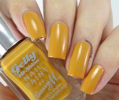 my new nail varnish! Barry M, Mustard. Amazing autumnal shade!