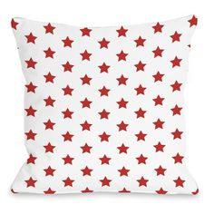 All Over Stars Throw Pillow