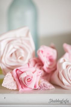How To Make No Sew Ribbon Rose Flowers