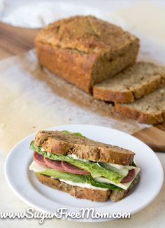 Low Carb Recipes This is the BEST Keto Low Carb Coconut Flour Bread you'll have try! The texture of this keto bread resembles soft wheat bread and it's perfect for low carb sandwiches! Best Low Carb Bread, Lowest Carb Bread Recipe, Low Carb Recipes, Diet Recipes, Vegan Recipes, Bread Recipes, Coconut Flour Recipes Low Carb, Zuchinni Recipes, Cauliflower Recipes