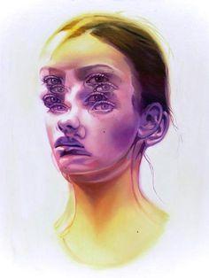 Painting gallery by Alex Garant Canadian pop art surrealist artist. Alex Garant, Reflection Art, Painting Gallery, Painting Canvas, A Level Art, Level 3, Realistic Drawings, Eye Drawings, Ap Art