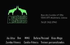Cartão de visita preto - Academia Alcântara