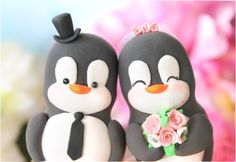 penguin cake toppers @Lauren Davison Michelle, I think you need these!