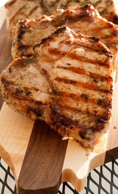 Crash Your Grill with Pork Giveaway and Basil Garlic Pork Chops Recipe