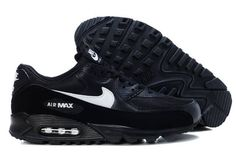 newest collection 05796 d2796 Nike Air Max 90-2 Noir And Blanche Logo Homme Chaussures France Discount En  Ligne