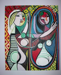 Reproduction Pablo Picasso Girl before a mirror oil on cavas 63x70 2013 for sale