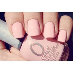 Cream and Bow: Light pink pastel nail polish found on Polyvore