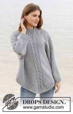 Northern exposure / DROPS - free knitting patterns by DROPS design . Northern exposure / DROPS - free knitting patterns by DROPS design Knitted poncho sweater with raglan . Knitting Terms, Knitting Patterns Free, Free Knitting, Free Pattern, Poncho Knitting Patterns, Poncho Pullover, Poncho Sweater, Knitted Poncho