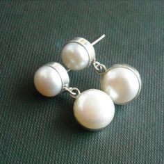 Buy Handmade pearl earrings jewelry, Pearl post earrings, Sterling silver by aStudio1980 Online at aStudio1980.com. Enjoy FREE shipping now. 100% handcrafted and original.