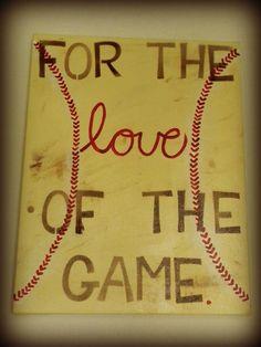 Baseball Love Canvas by LifesAcanvas on Etsy Softball Room, Softball Crafts, Softball Quotes, Softball Pictures, Softball Players, Girls Softball, Fastpitch Softball, Sport Quotes, Baseball Mom