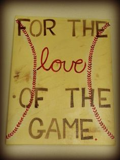 Baseball Love Canvas by LifesAcanvas on Etsy, $25.00
