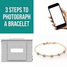 Here is 3 quick steps to photographing bracelet jewelry on a white background! - Share, tag a friend, and double tap 💕