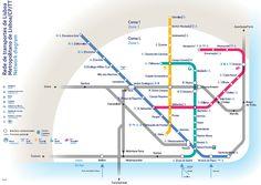 Lisbon metro subway map
