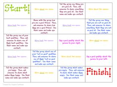 free download - a fun cooperative game to play in social group or lunch bunch.  Students are encouraged to share their thoughts and feelings with each other and there is also a component of asking each other questions and making eye contact.  The rules are simple, roll a die and move a game piece to that space.  For every time the student has to share something, they get a marble.  Whoever has the most marbles at the end of the game is the winner.