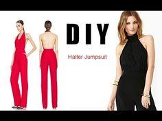 DIY Halter Jumpsuit - YouTube