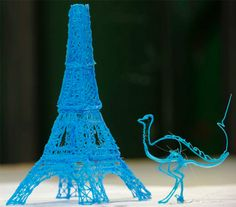 3D Printing? Try 3-D doodling! Yes, it's real--all you need is the 3Doodler pen, some ABS or PLA plastic, and imagination.