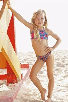 Peixoto Kids Printed Bikini Set -   The Peixoto Kids Tamarin Bikini is the bikini for girls made of sunshine and sass. It's designer print is bold and colorful which makes this kids printed bikini set so special. The bikini's shape offers a comfortable fit for a long day of fun activities!