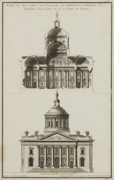 Architectural Prints By Jean-François De Neufforge Architecture Drawings, Classical Architecture, Architecture Design, Architectural Prints, Architectural Section, Victorian Dollhouse, Modern Dollhouse, Miniature Houses, Miniature Dolls