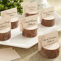 Rustic Real Wood Place Card Holders