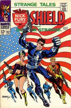 Don't yield; pin this Steranko S.H.I.E.L.D. cover to your boards! It's classic! (Story involves the Yellow Claw; Woo is a S.H.I.E.L.D. agent; Suwan is dead - an epic climax to rival 007's best.)