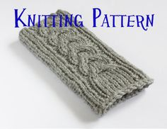 This snug fitting case has an attractive cable pattern on the front and will help to protect your phone - pattern on Etsy