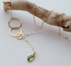 Eternity Necklace Y Necklace Bridesmaid by CharmingMetals on Etsy