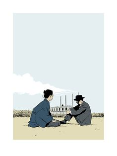The Only Son - Yasujirô Ozu - poster art for The Criterion Collection by Adrian Tomine
