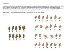The ASL Family Letter from Sprouting New Beginnings on TeachersNotebook.com -  (1 page)  - We have created for you a family letter to send home to let your families know that your students are learning American Sign Language in their classroom.