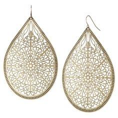 Ash Brown Tear Drop Earrings - Gold - from Target