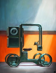 Be amazed by the art of Mike Hill, co-founder and art director at Karakter Design Studio Mike Hill, Heartbreak Wallpaper, Monocycle, Velo Cargo, Bike Cart, Concept Motorcycles, Futuristic Motorcycle, Honda Cars, Game Character Design